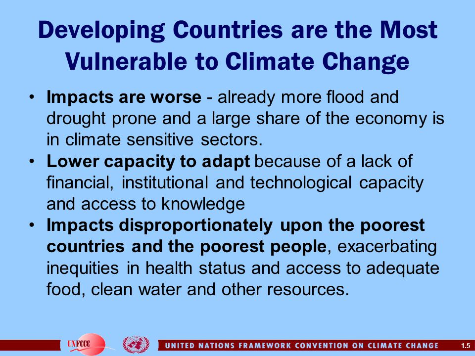 Developing Countries are the Most Vulnerable to Climate Change