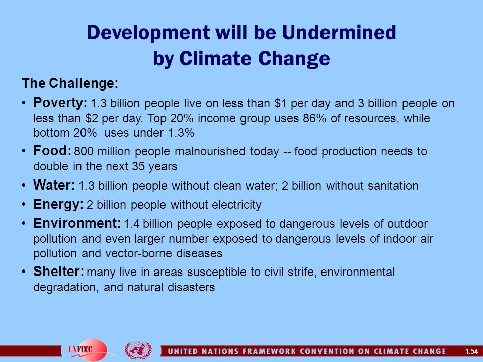 Development will be Undermined by Climate Change
