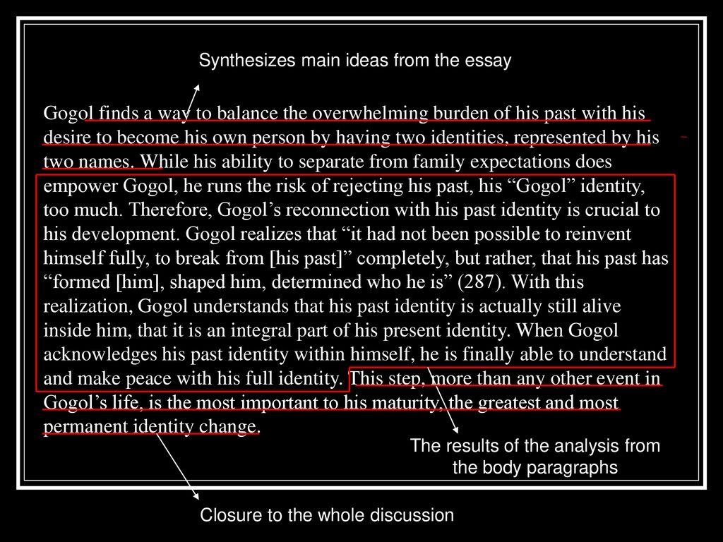 gogol jhumpa lahiri summary