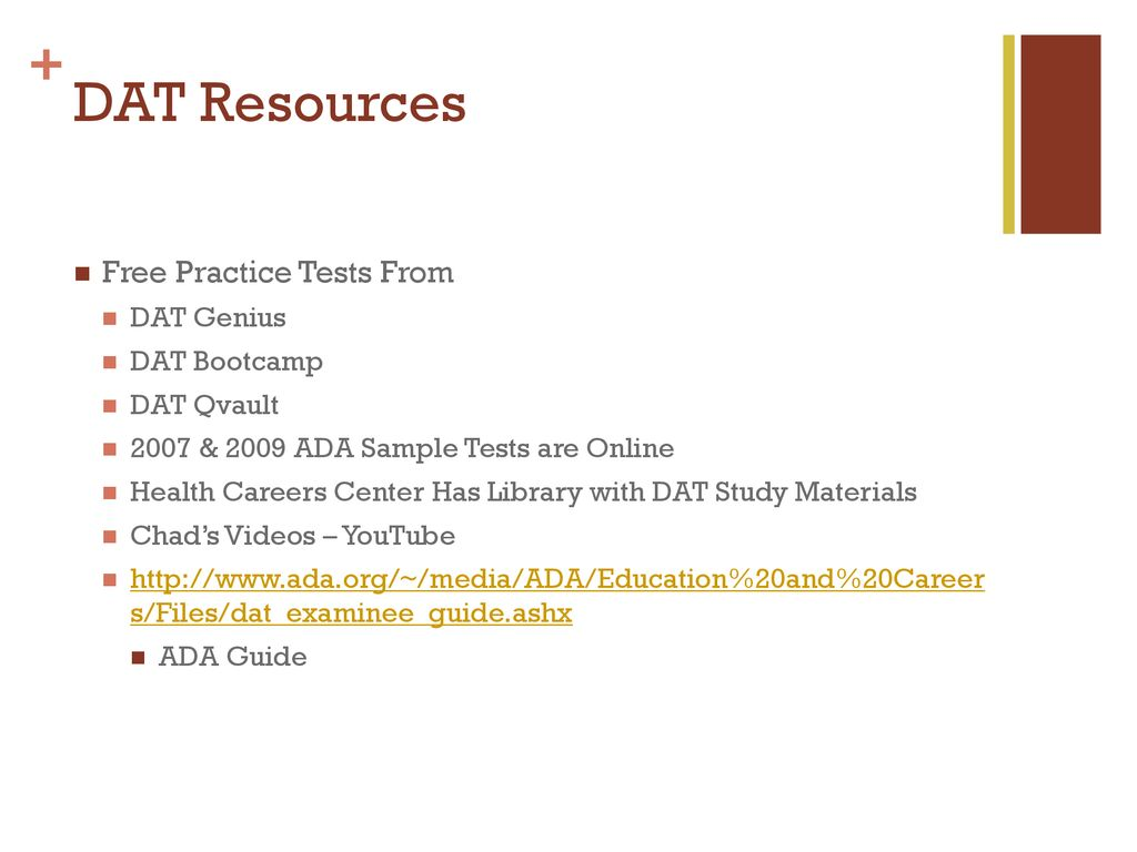 DAT Resources Free Practice Tests From DAT Genius DAT Bootcamp