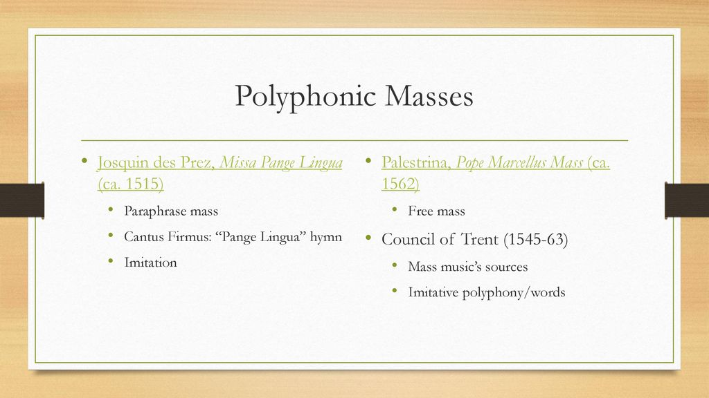 Chant And Masse Worship Through Song Ppt Download Paraphrase Mas Josquin