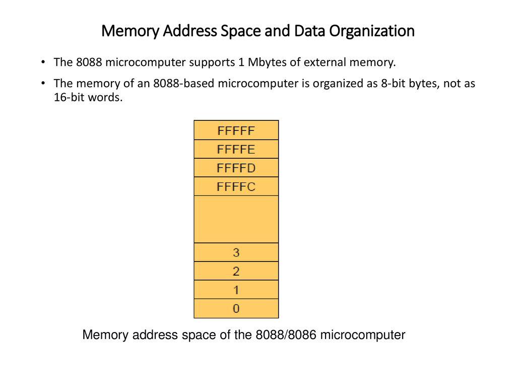 memory address space and data organization