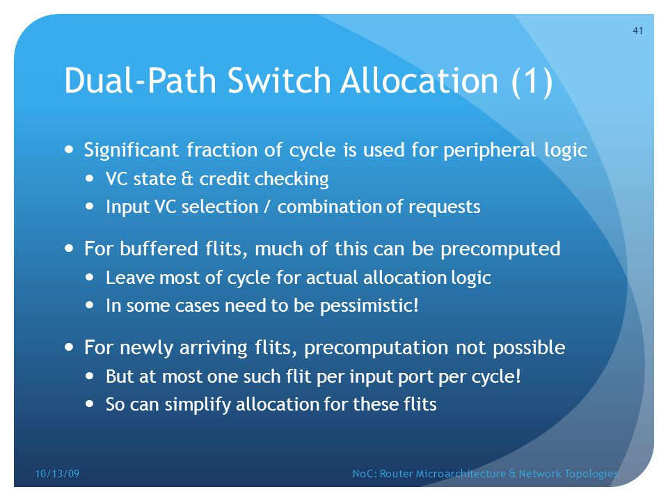 Dual-Path Switch Allocation (1)