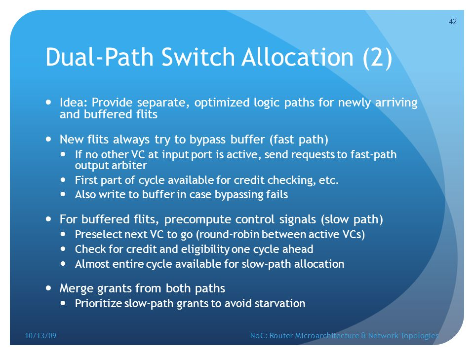 Dual-Path Switch Allocation (2)