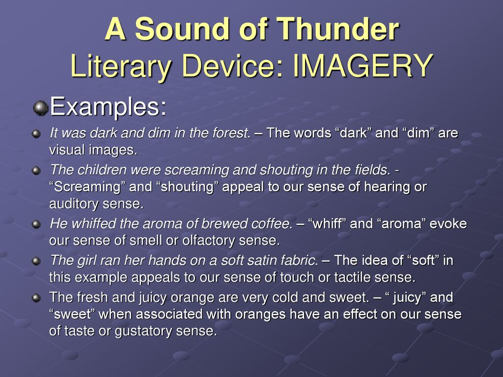 a sound of thunder imagery