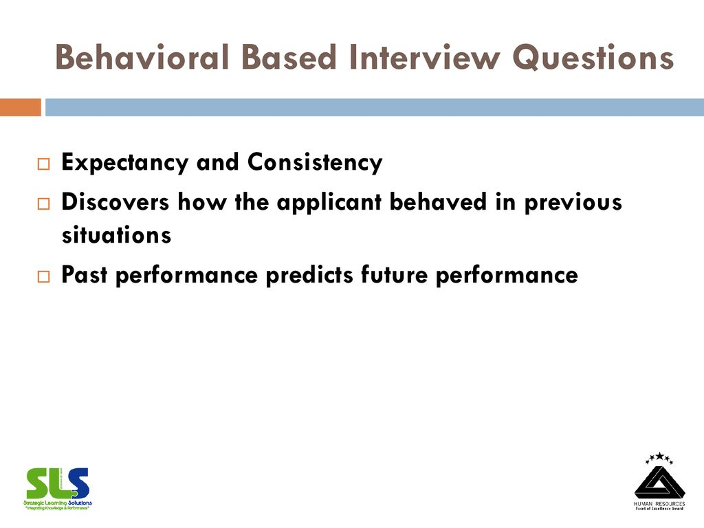 behavioral based interview questions pdf