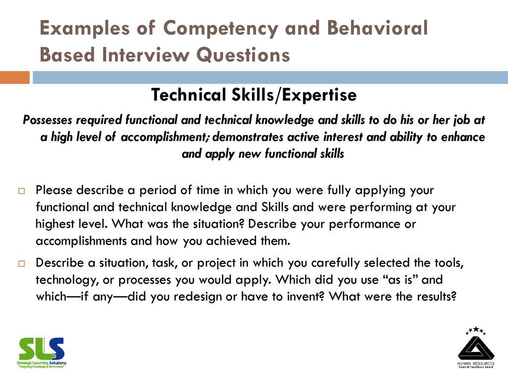 behavioral based interview questions behavioral