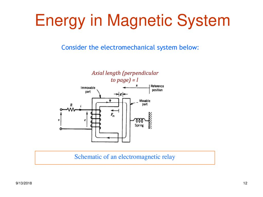 Electromechanical Energy Conversion Ppt Download Electromagnetic Relay Equation 12 In Magnetic System