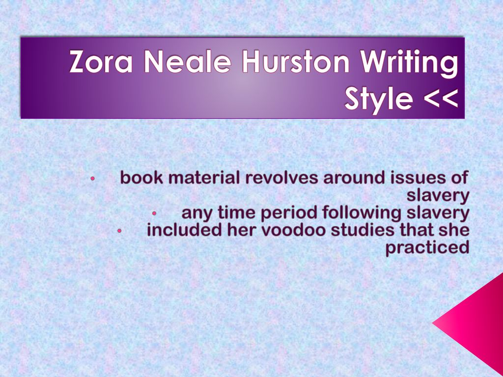 zora neale hurston writing style