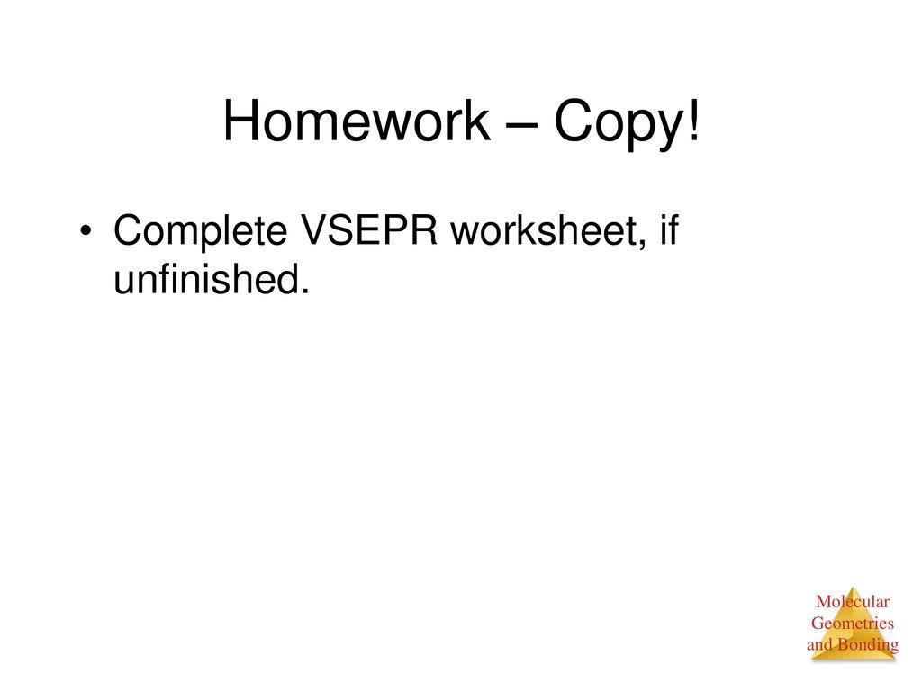 Worksheets Vsepr Worksheet chemistry do now directions in a 3 5 sentence paragraph use carbon complete vsepr worksheet if unfinished