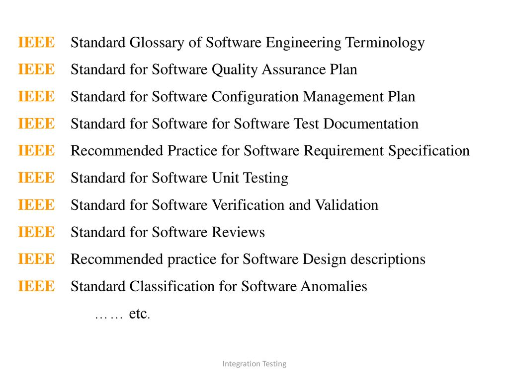 Software Testing And Integration Ppt Download