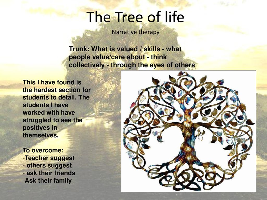 The Tree of life Narrative therapy - ppt download