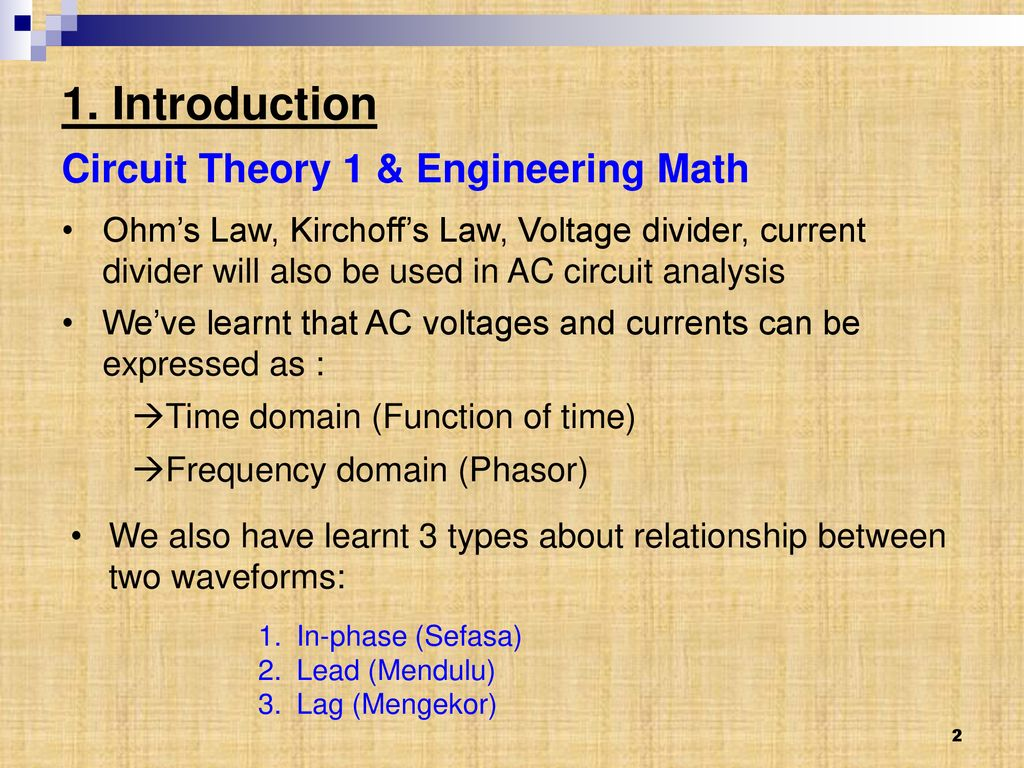 Chapter 2 Single Phase Circuits Ppt Download Voltage Divider Ac Circuit Introduction Theory 1 Engineering Math