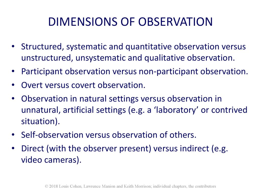 what is unsystematic observation
