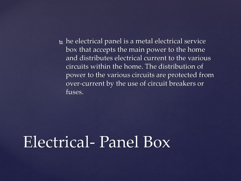 602 Recognize Components Of Construction Ppt Download Fuse Electric Panel Boxes He Electrical Is A Metal Service Box That Accepts The Main Power To