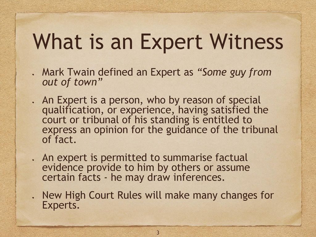 introduction overview of how to give expert witness evidence and