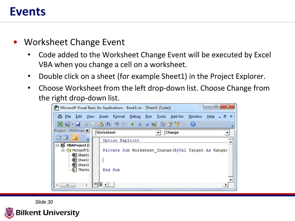 More VBA IE 469 Fall ppt download
