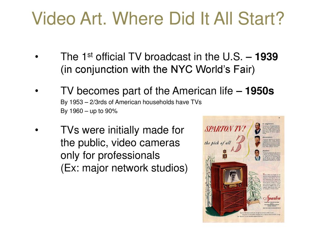 Video Art part ppt download