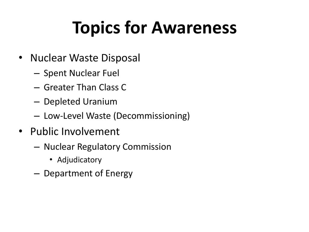 REGULATORY VIEW OF FUTURE NUCLEAR WASTE MANAGEMENT - ppt