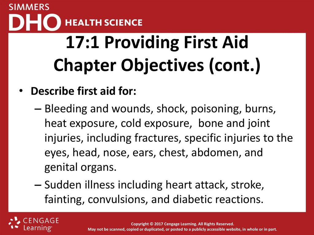 Chapter 17 First Aid Ppt Download Lesson 4 Shock Switch 171 Providing Objectives Cont