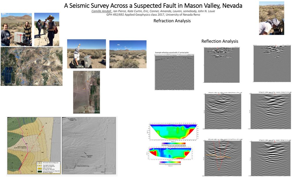 A Seismic Survey Across a Suspected Fault in Mason Valley
