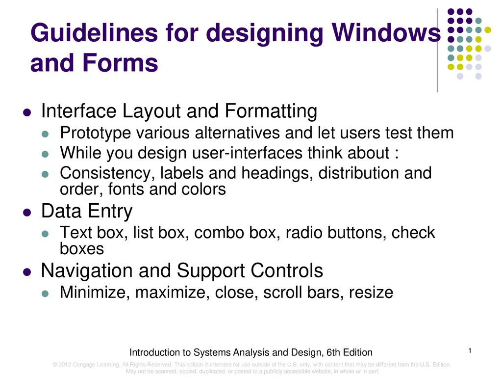 Guidelines For Designing Windows And Forms Ppt Download