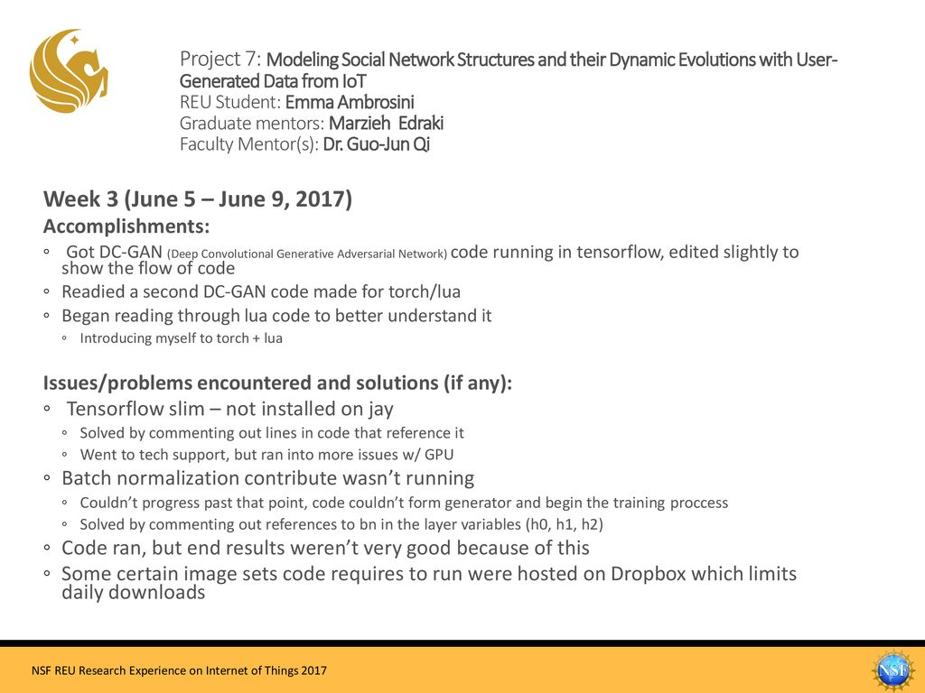 Project 7: Modeling Social Network Structures and their Dynamic