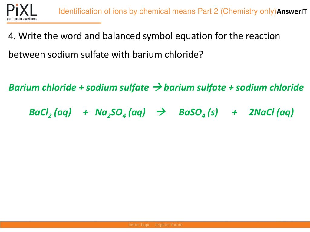 Aqa Topic Chemical Analysis Ppt Download
