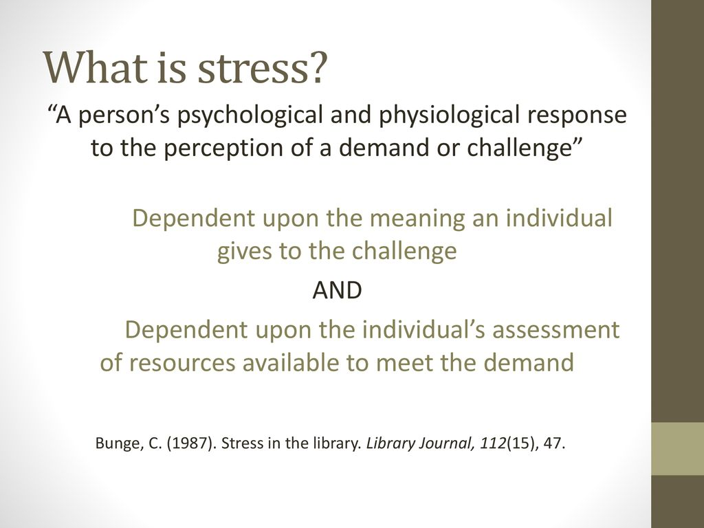 Under Pressure: Work-related stress in academic libraries