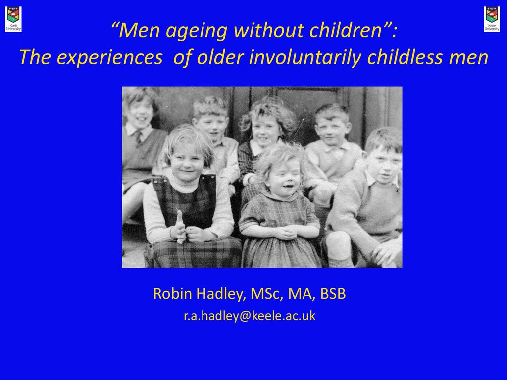 """Men ageing without children"""": The experiences of older"""