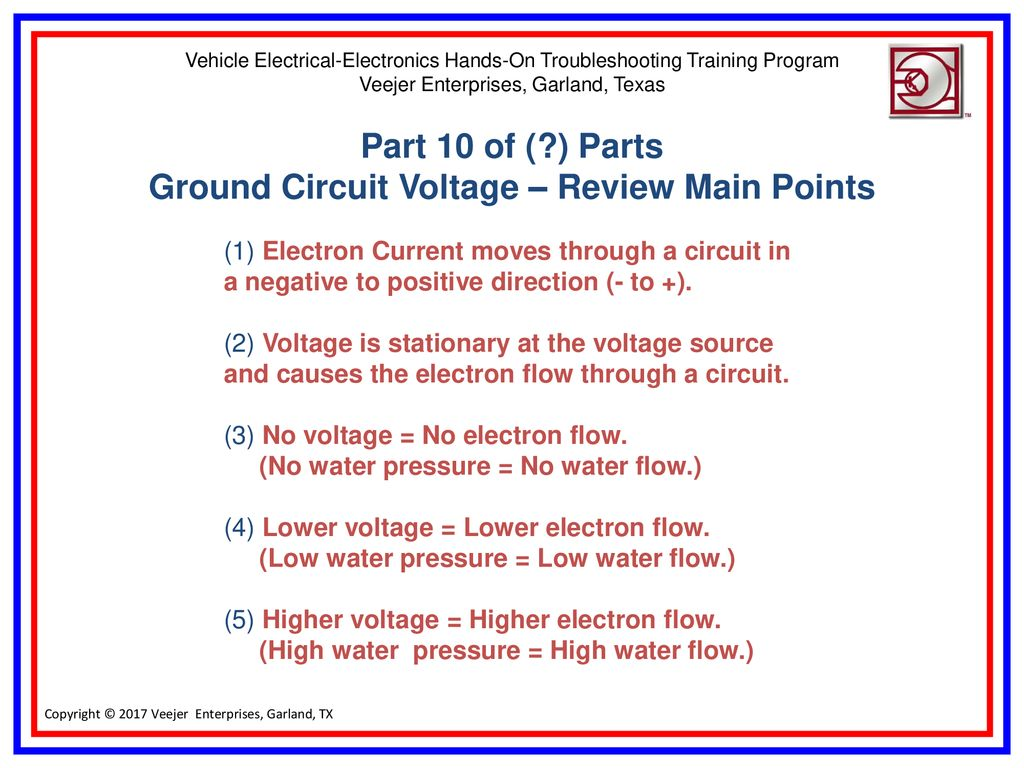 Auto Truck Hduty Ground Circuit Voltage Ppt Download Electrical Circuits Automotive Training And Review Main Points