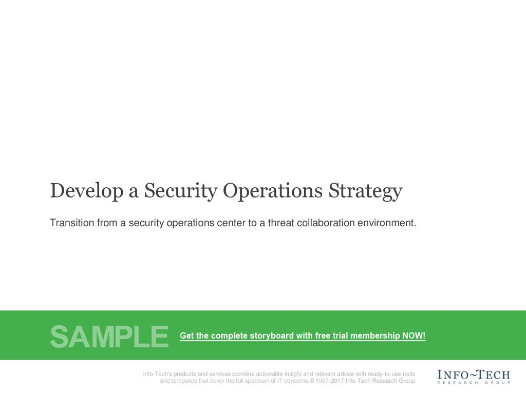 Develop a Security Operations Strategy - ppt download