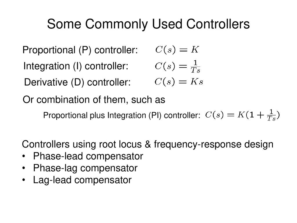 Lec 14  PID Controller Design - ppt download