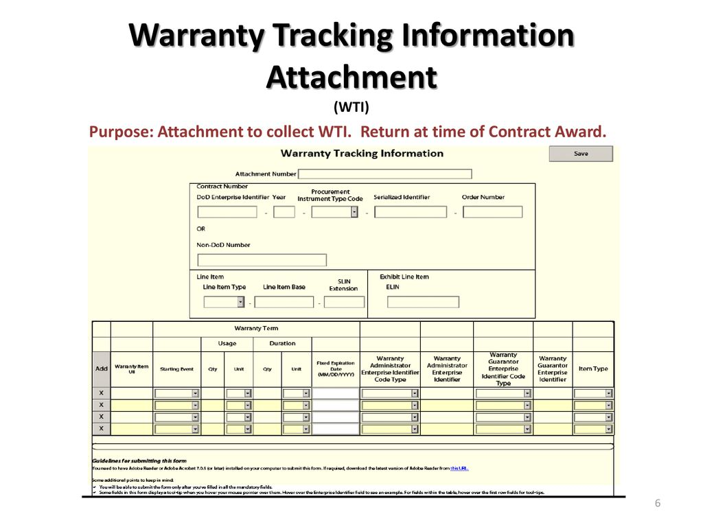 warranty tracking source of repair instructions ppt download