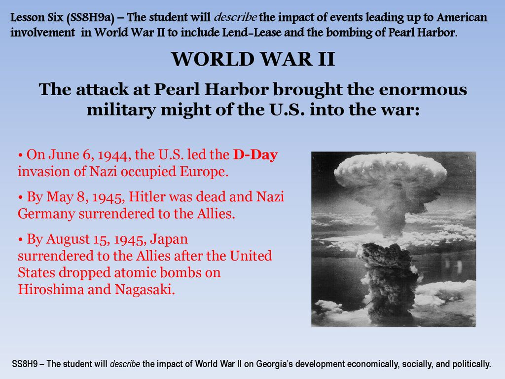 what events led to us involvement in world war 2