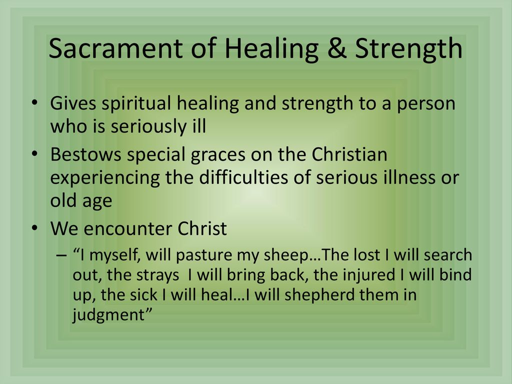 The Sacrament of Unction - Forgiveness of Sins and Healing of Diseases