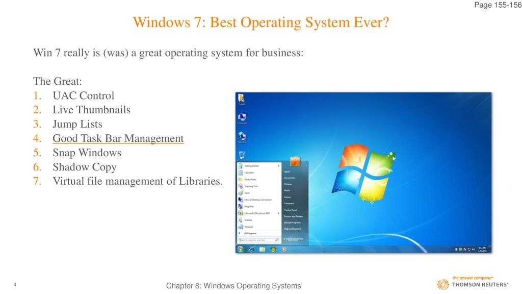 Windows 7 Best Operating System Ever