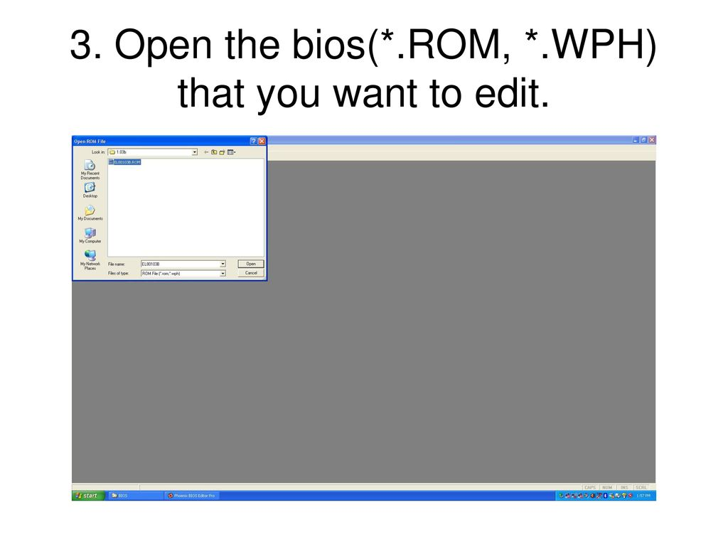 How to edit bios logo with Phoenix Bios editor - ppt download