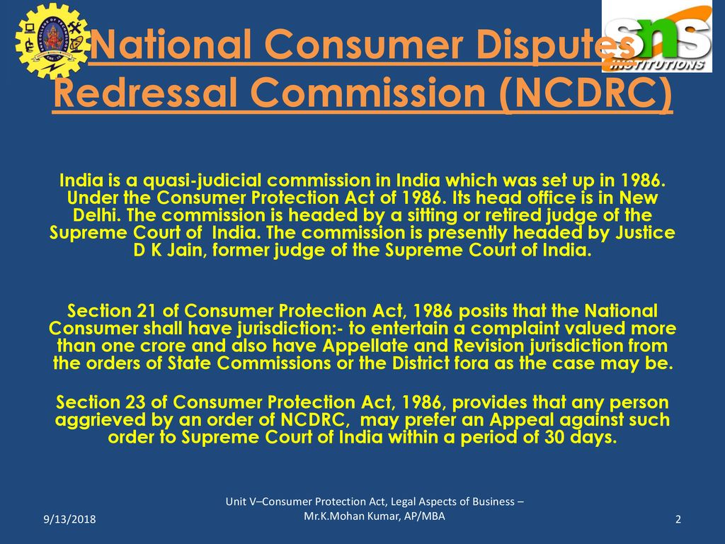national consumer disputes redressal commission new delhi