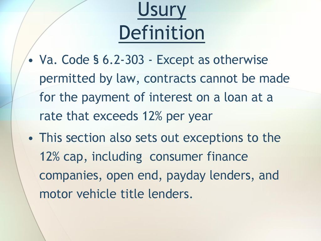 predatory lending – from car title to open end: - ppt download