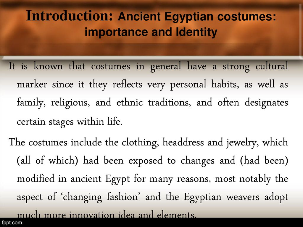 Egyptian Costumes in Persian Taste  - ppt download