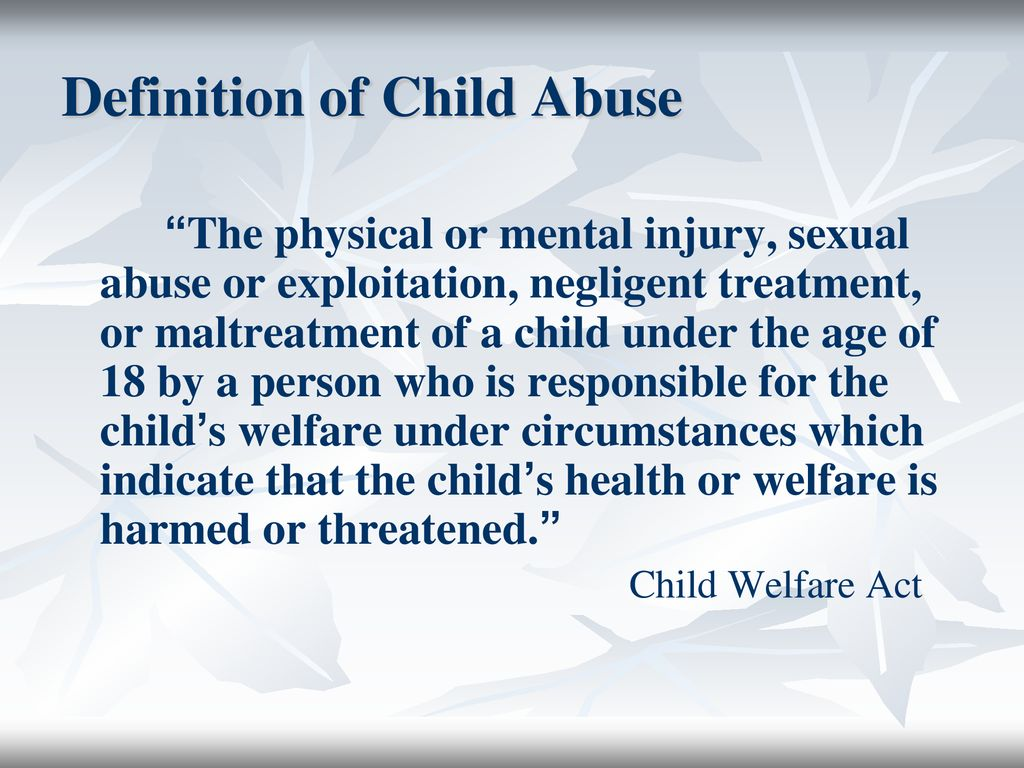 child abuse. - ppt download
