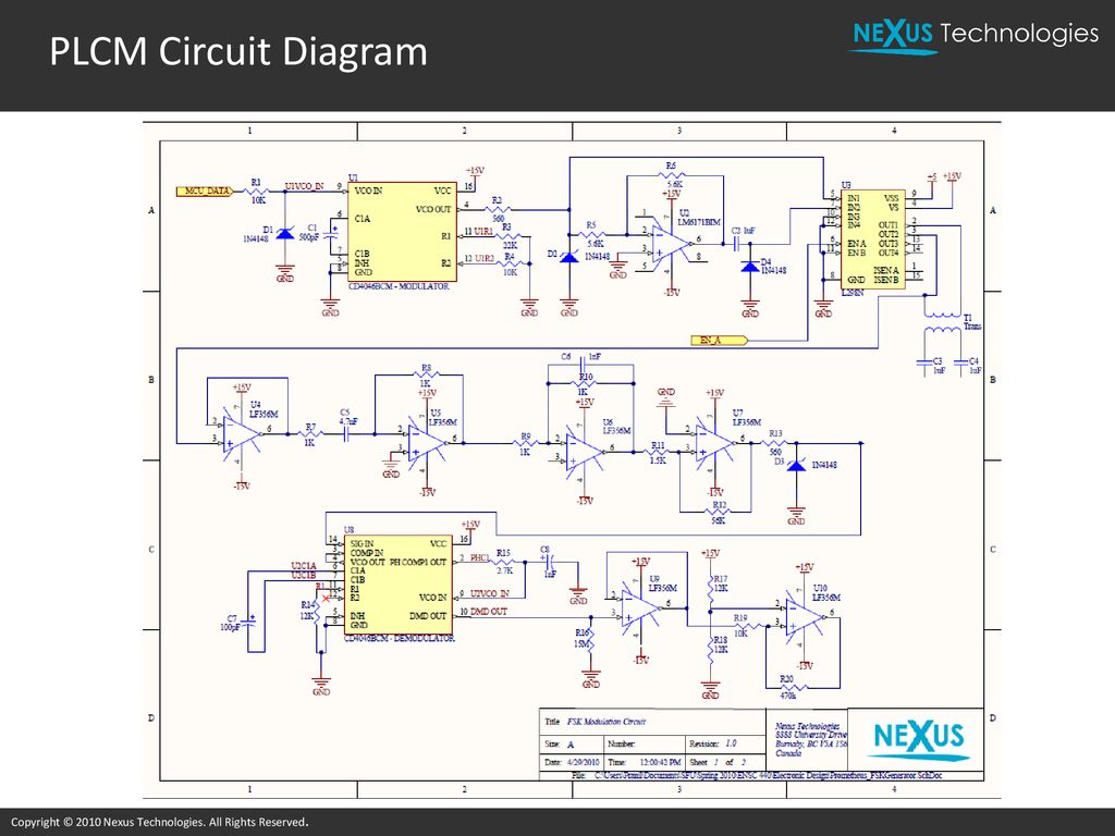 Power Line Communication System For Home Automation Ppt Download Nexus Wiring Diagram 42 Plcm Circuit Copyright 2010 Technologies All Rights Reserved