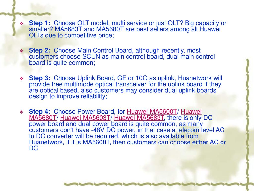 How to Configure a Huawei OLT - ppt download