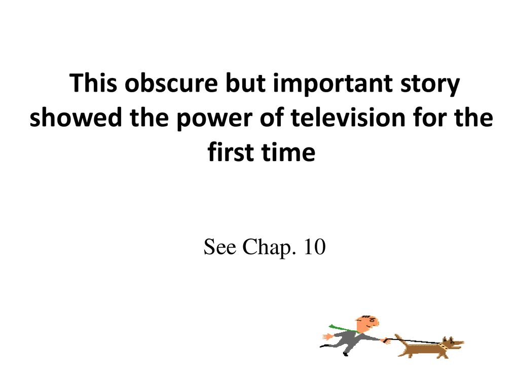 Television Progress And Problems Electricity Quiz Board Vocab Intro 4 12 10 20quiz This Obscure But Important Story Showed The Power Of For First Time