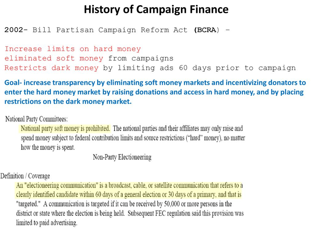 campaign finance markets moving into the black market - ppt download