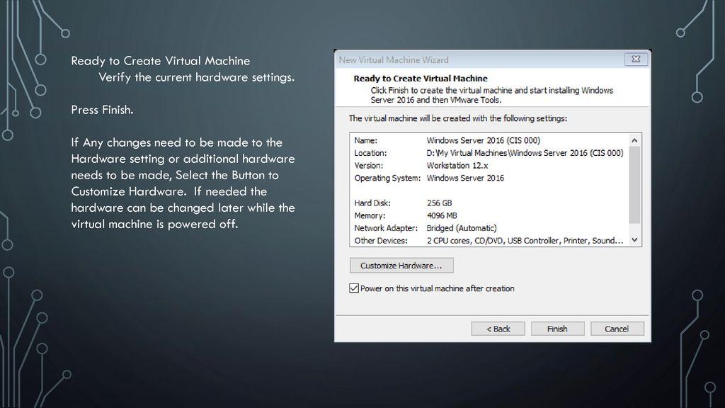 Windows Server 2016 Vmware