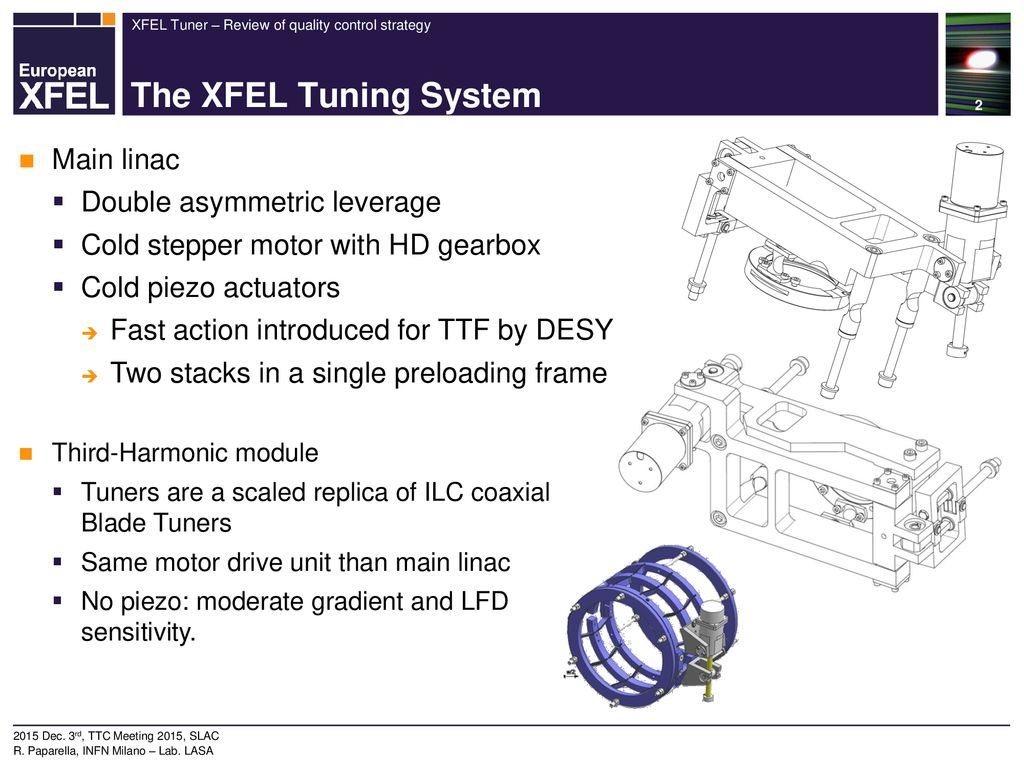 European-XFEL tuners Review of quality control strategy