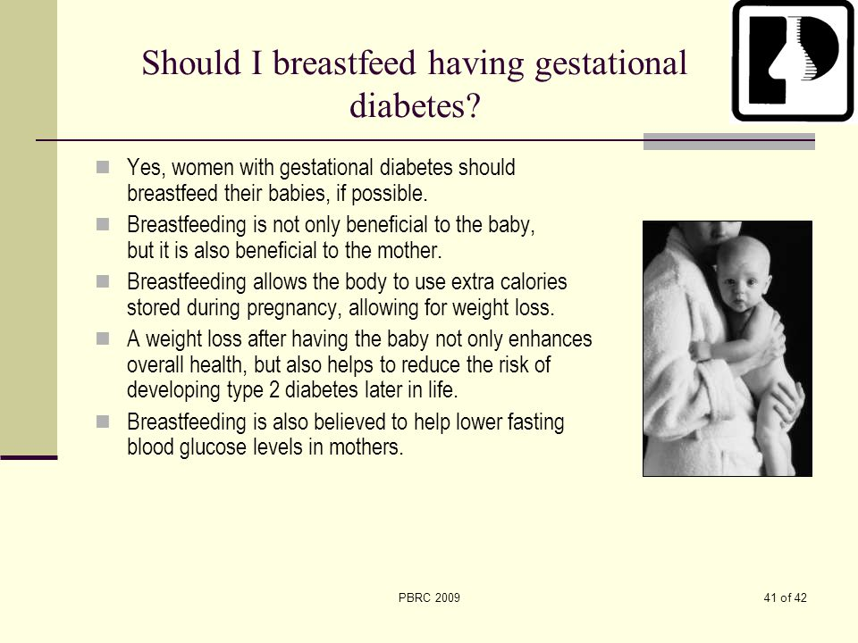 Should I breastfeed having gestational diabetes