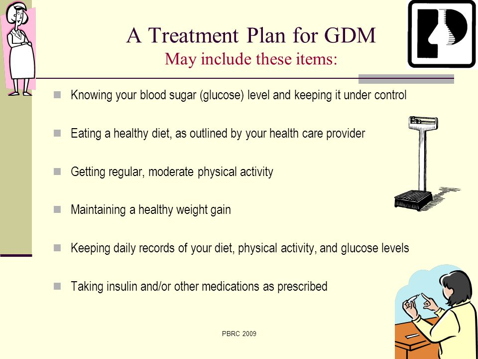 A Treatment Plan for GDM May include these items: